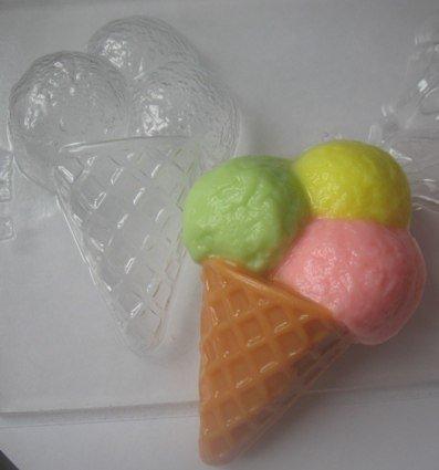 """Пластиковая форма """"Мороженое Рожок"""" - MadamSoapyMadamSoapy"""