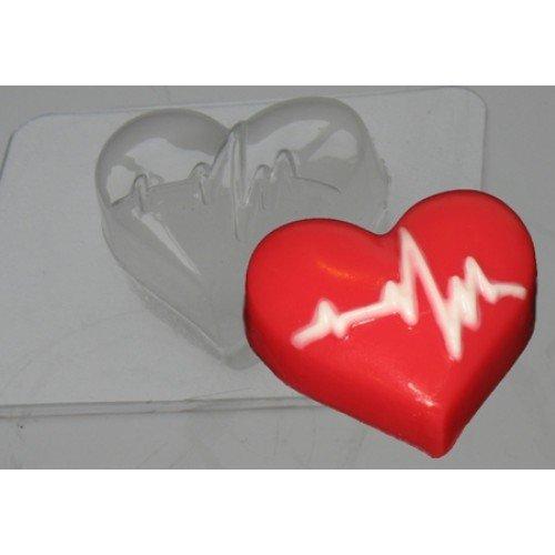 """Пластиковая форма """"Кардиограмма (сердце)"""""""