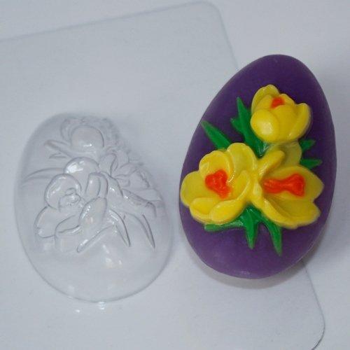 "Пластиковая форма ""Яйцо крокусы"""