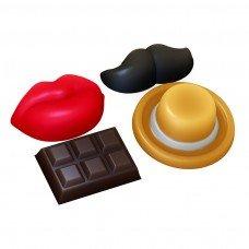 Декор (усы, губы, шоколадка)