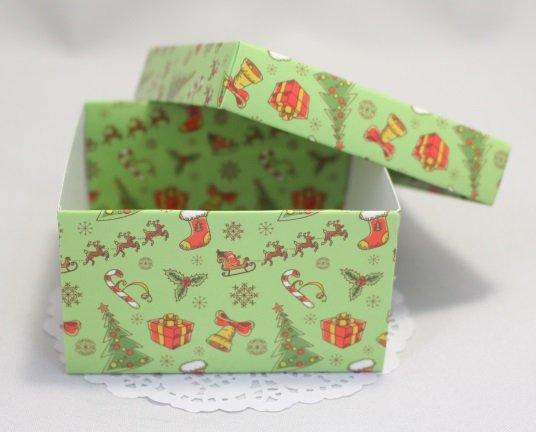 Коробка Преимиум Новогодняя 2 с крышкой 101019