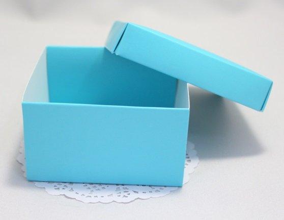 Коробка Премиум синяя с крышкой 101021