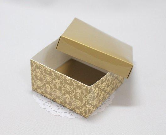 Коробка Премиум золотая с крышкой 101022