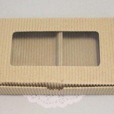 Коробка натуральная с окном 101029