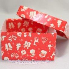 Коробка премиум Новогодняя 1 с крышкой 101018
