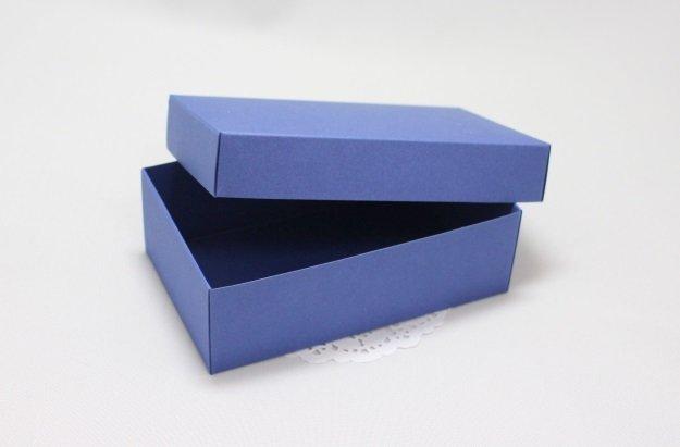 Коробка прямоуг Медиум (синяя) 101024