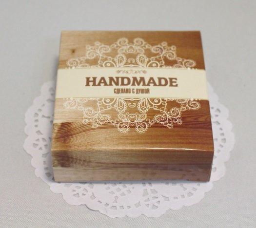 Коробочка Handmade сделано с душой 7,7х8см 101005