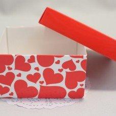 Коробочка Сердечки с крышкой 101014