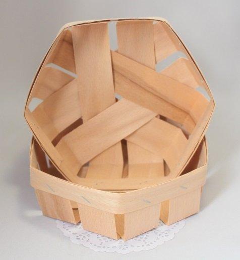 Корзинка шестиугольная 13х13х4,5см 101042