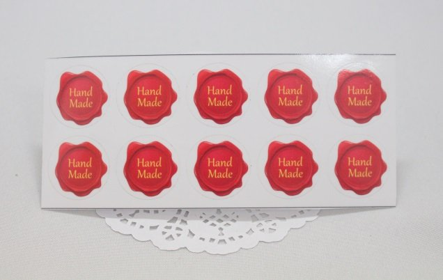 Наклейки Hand Made сургуч 010022