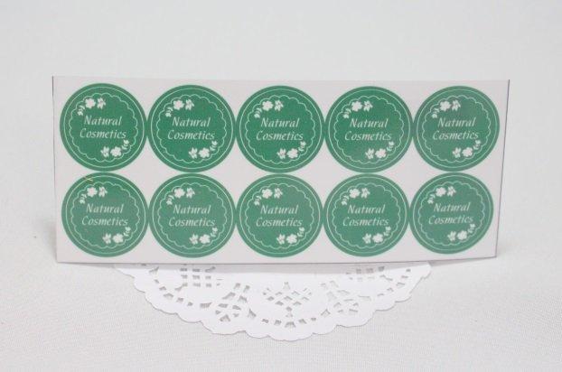 Наклейки Natural Cosmetics компл 10шт 010017