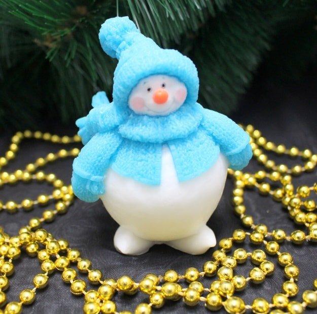 Пухлый снеговичек
