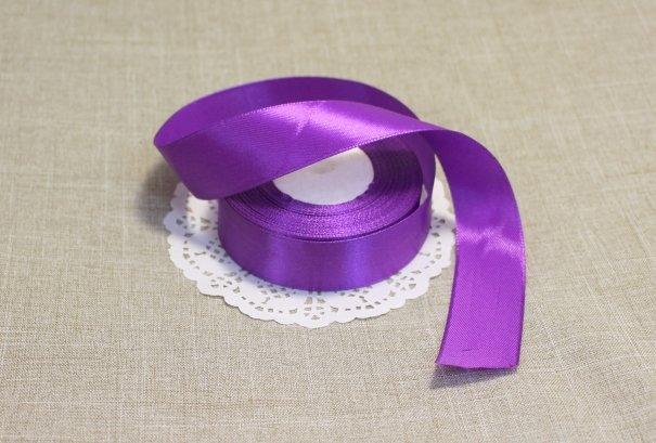 Лента атласная цвет Фиолетовый 25 мм 102006.5