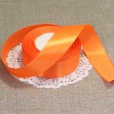 Лента атласная цвет Оранжевый 25 мм 102006.6