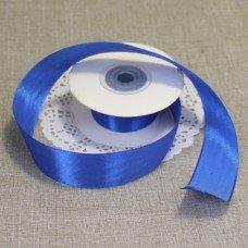 Лента атласная цвет Синий 25 мм 102006.12