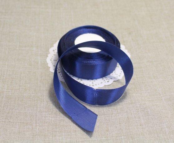 Лента атласная цвет Темно-синий 25 мм 102006.14