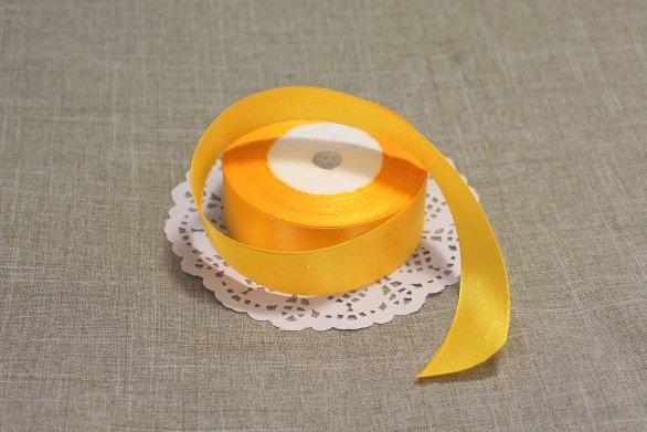 Лента атласная цвет Желтый 25 мм 102006.7
