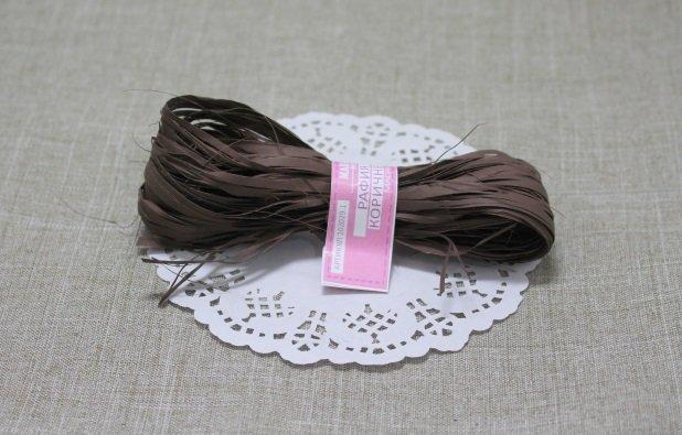 Рафия коричневая 5метров 102029.2
