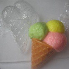 "Пластиковая форма ""Мороженое Рожок"""