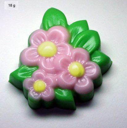 Пластиковая форма Полевые цветы декор