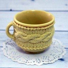 Вязанная чашка