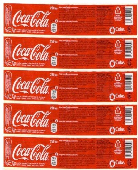 Наклейка Coca Cola