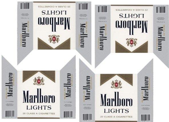 Наклейка Сигареты Marlboro lights