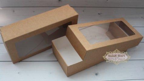 Коробка бурая под наборы 20*9,5*5см