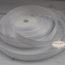 Лента атласная цвет белый (бабина)