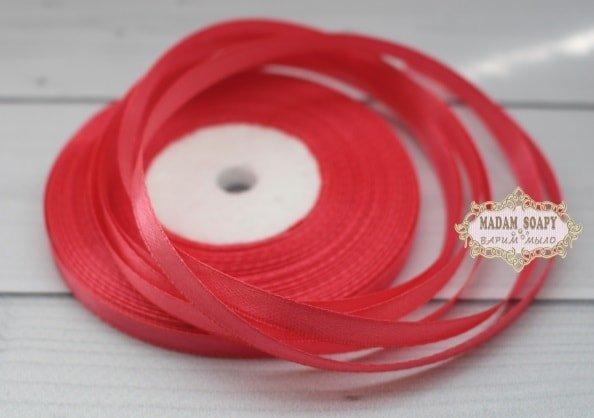 Лента атласная цвет розовый (бабина)