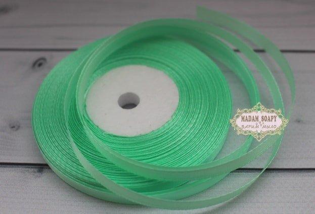 Лента атласная цвет светло-зеленый (бабина)