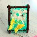 Мыло ручной работы Бабочка на цветах