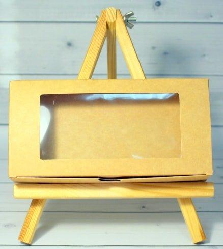 Коробка Натуральная бурая с окном