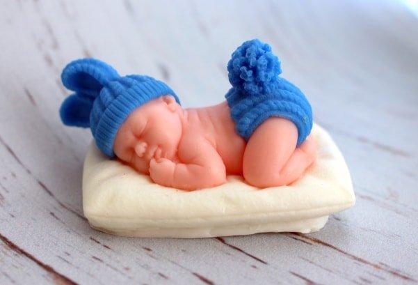 Мыло ручной работы Малыш на подушке
