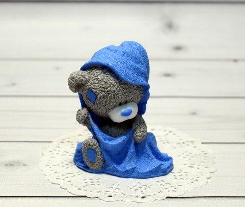 Мыло ручной работы Мишка Тедди в полотенце