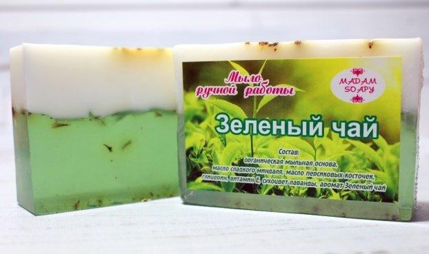 Мыло ручной работы «Зеленый чай»