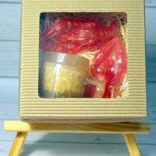 Набор мыла Кружка пива, 2 рака в гофро-коробке
