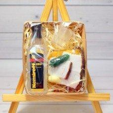 Набор мыла Водка, рюмка, бутерброд с огурцом и чесноком