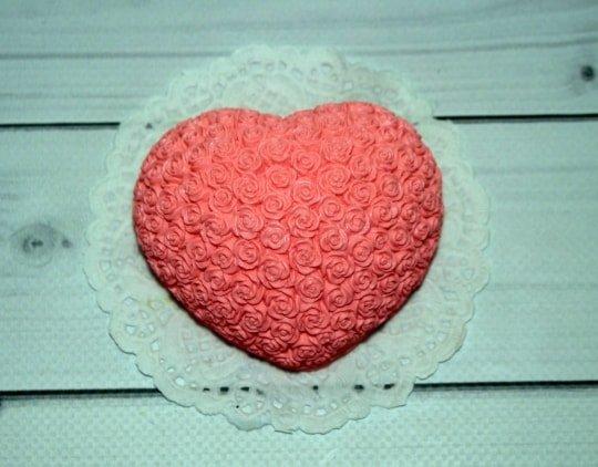 Мыло ручной работы Сердце в розах