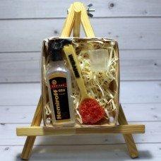 Набор мыла Бутылка водки, рюмка, ложка с красной икрой