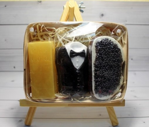 Набор мыла Смокинг, слиток золота, черная икра