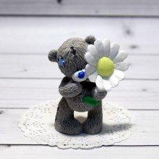 Мыло ручной работы Мишка Тедди с ромашкой
