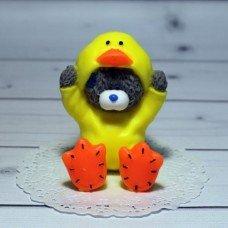 Мыло ручной работы Мишка Тедди в костюме Утёнка