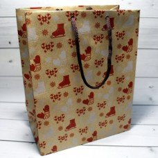 Пакет крафт Новогоднее Сапожки