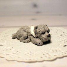 Мыло ручной работы Собака мини Ризеншнауцер