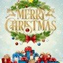 Бирочка декоративная Подарки Merry Cristmas