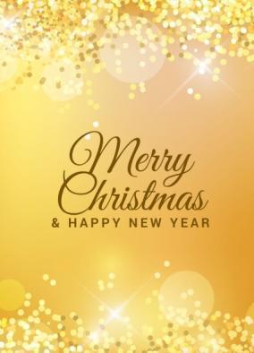 Бирочка декоративная Золотая Merry Cristmas