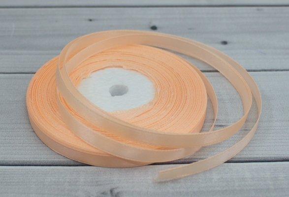 Лента атласная цвет персиковый (бабина)