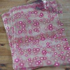 Пакет с цветочками розовыми