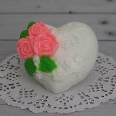 Сердце ажурное с розами